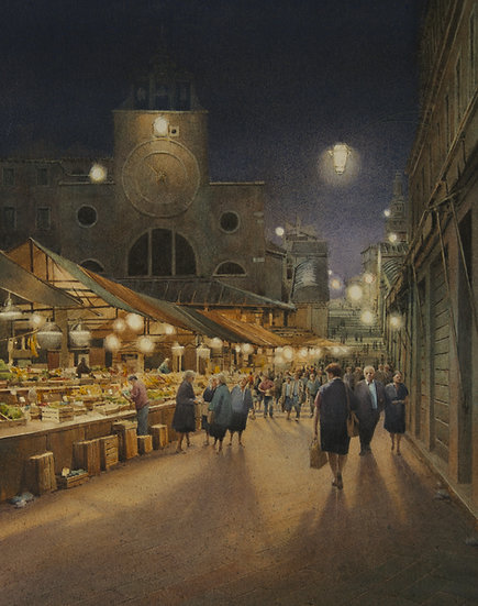 Rialto Markets at Night