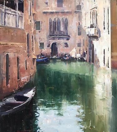 KEN KNIGHT   A Sunny Corner, Venice