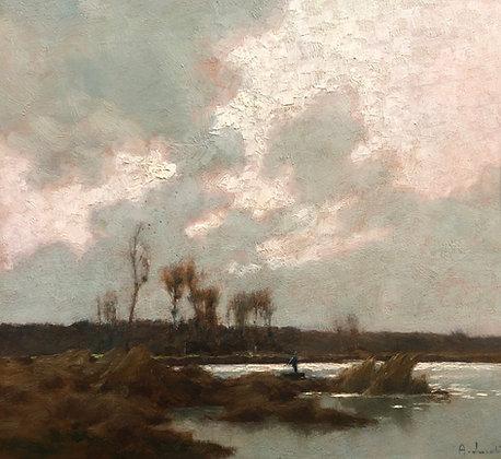 ALEXANDRE LOUIS JACOB | Pêcheurs sur le Marais