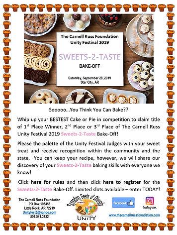 Sweets 2 Taste Bake-Off Flyer for Wix -