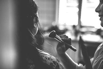 makeup artist brush