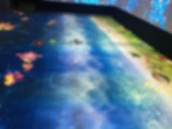 proiettore pavimento interattivo;  (2) (