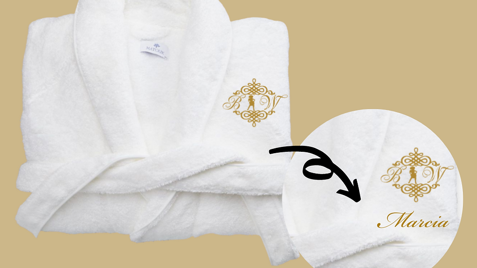 Personalized BIW Spa Robes