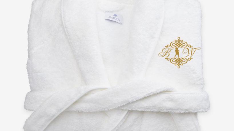 BIW Monogrammed Spa Robes