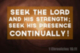 Seek the Lord