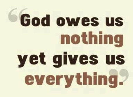 God Gives