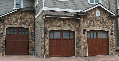 Aries Walnut Woodgrain Hormann Residential Garage Doors