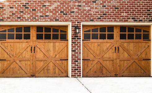 oak finish wood Wayne Dalton Residential Garage Doors