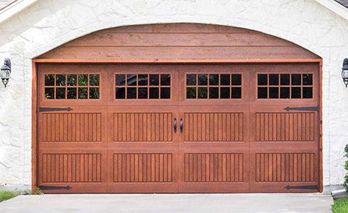 Walnut Fibreglass Wayne Dalton Residential Garage Doors