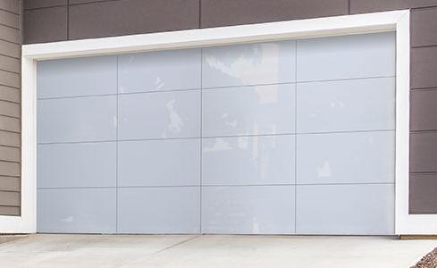 White Aluminum Wayne Dalton Residential Garage Doors