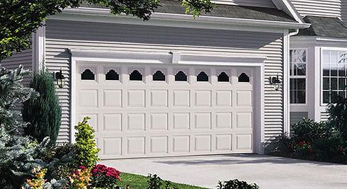 white vinyl Wayne Dalton Residential Garage Doors