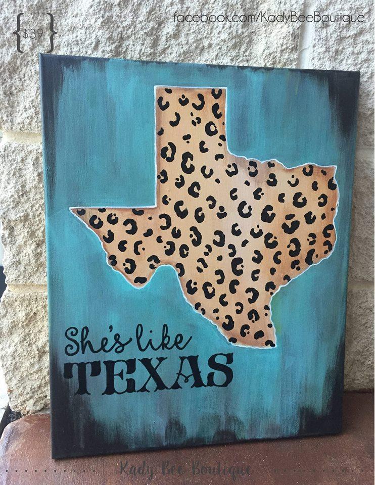 She's Like Texas Leopard Painting