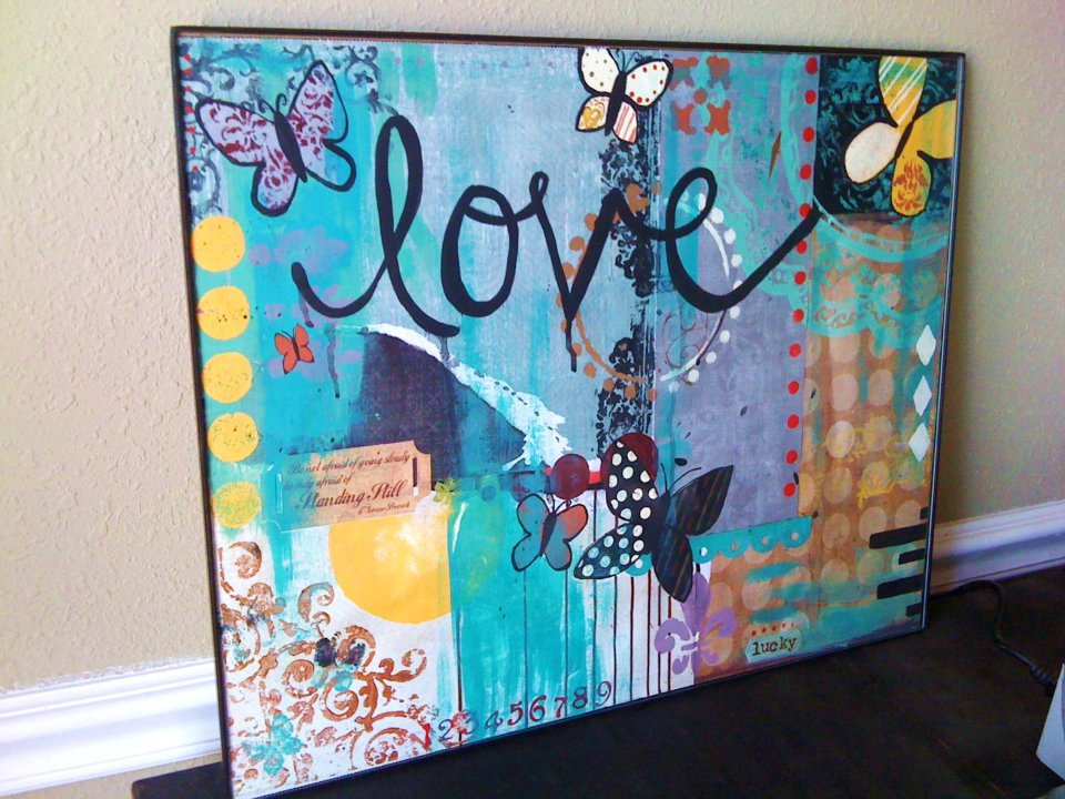 Cool Mixed Contemporary Love Paintin