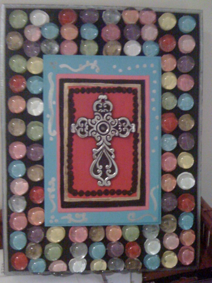 Colorful Marble Cross Art