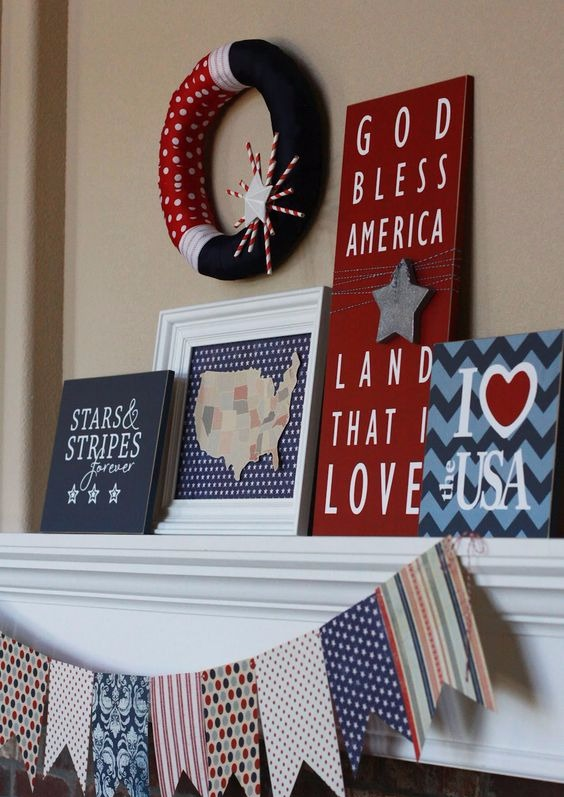 July 4th Wood Signs