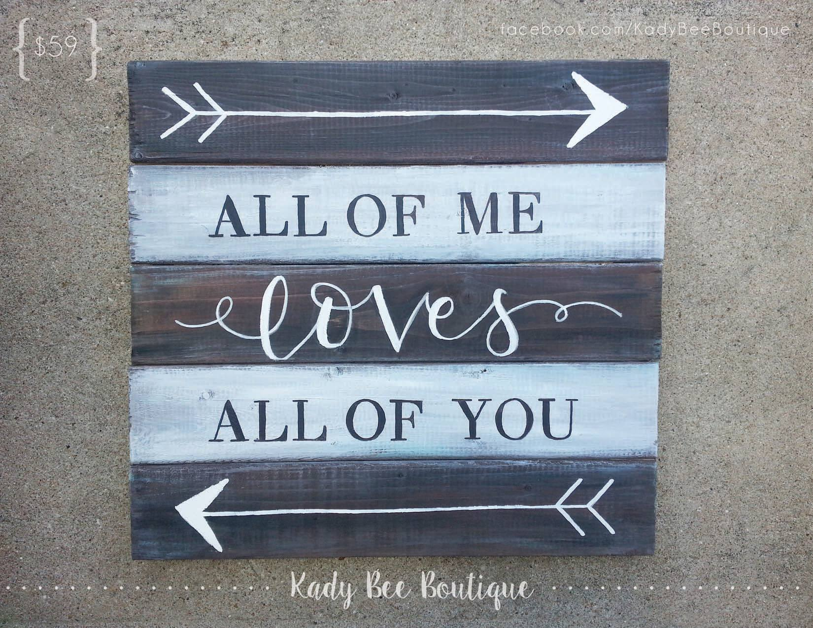 Wood Pallet Sign Kady Bee Boutique