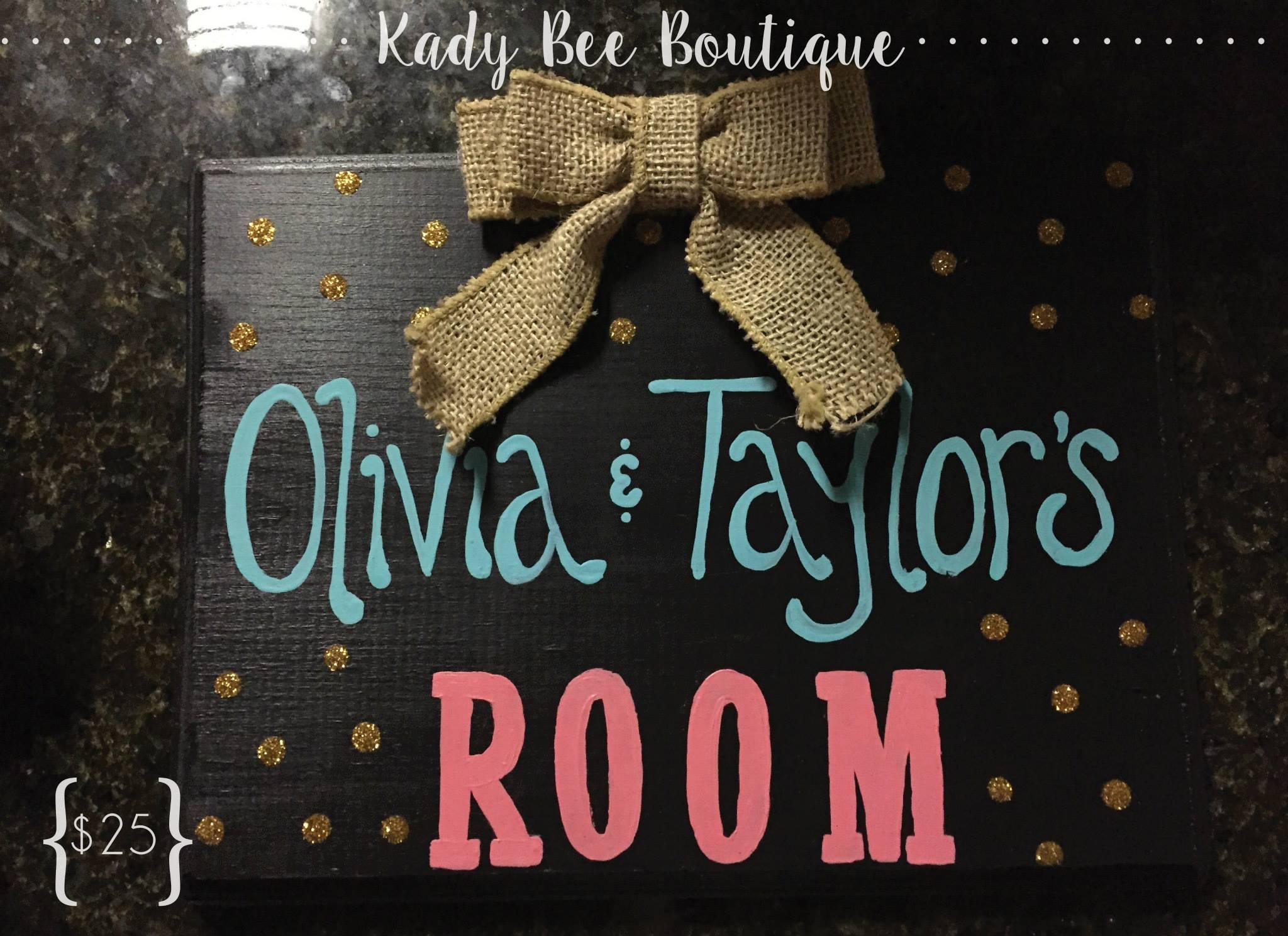 College Dorm Room Door Sign