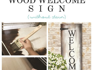 How To DIY Welcome Sign