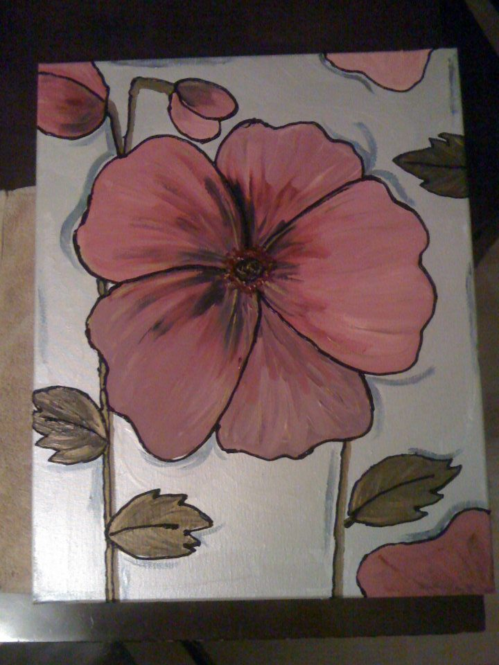 Pink and Pearl Flower Painting