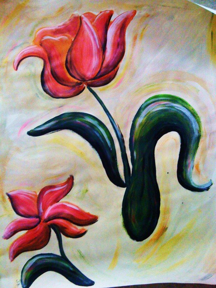 Watercolor Tulip Kady Bee Boutique