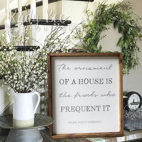 Home Decor Wood Framed Sign