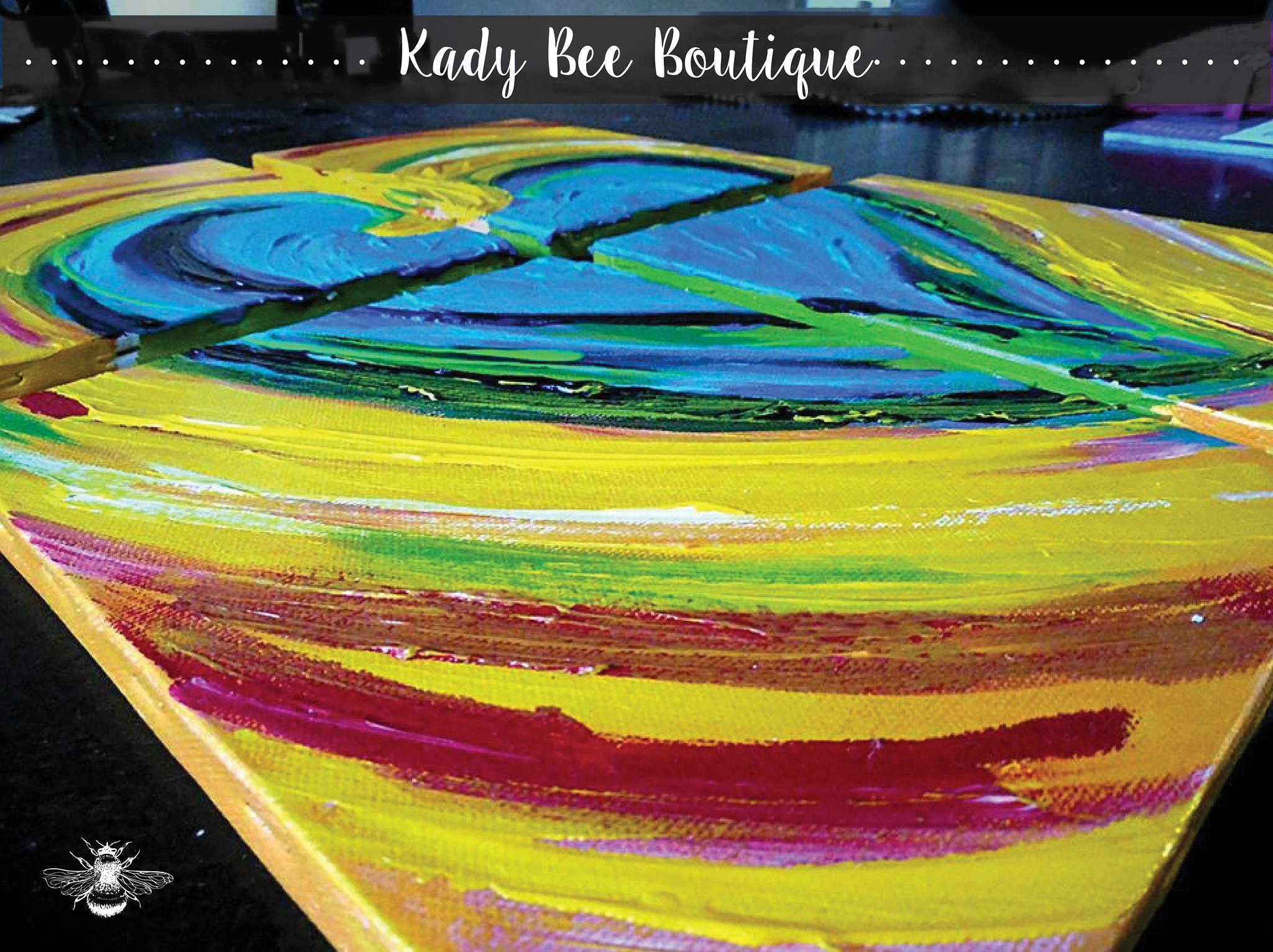 Heart Painting Kady Bee Boutique