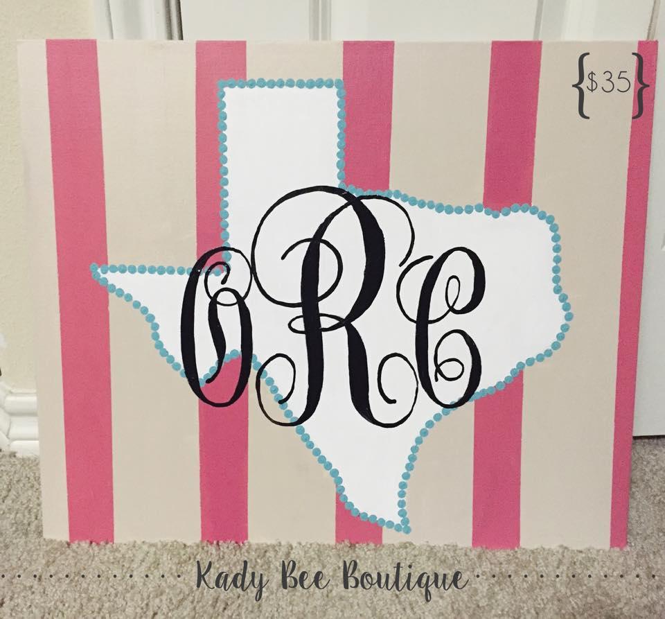 Texas Monogram Kady Bee Boutique