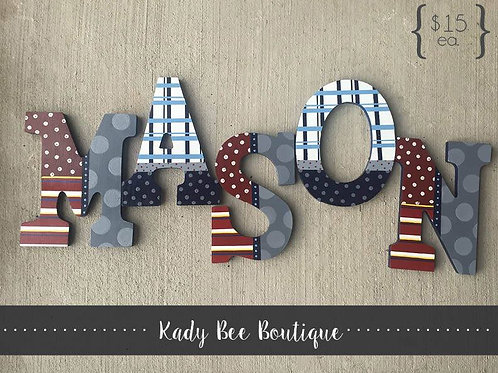 Wood Wall Letters - Font 2
