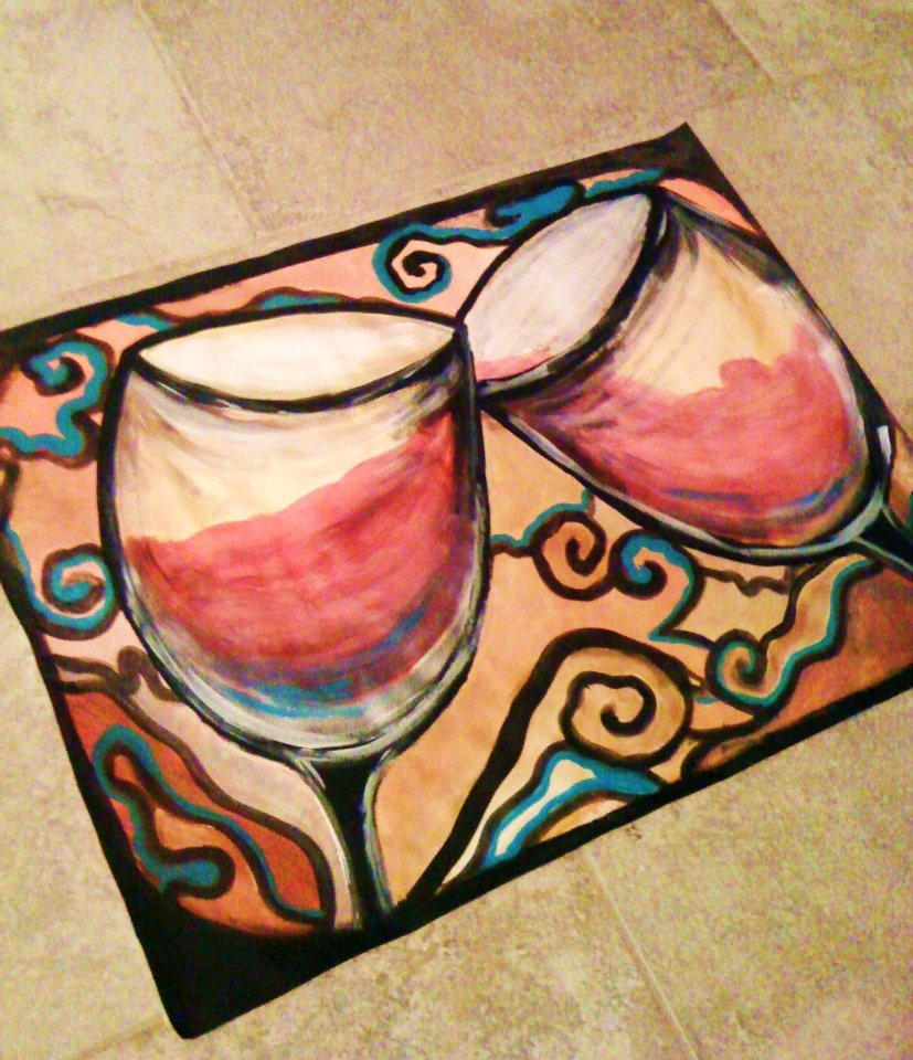 Wine Glass Water colors