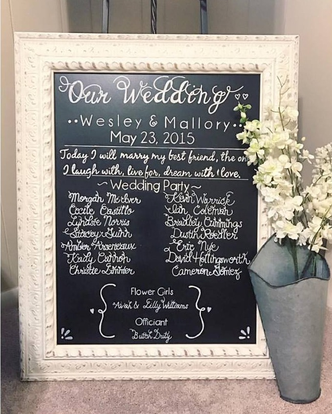 Wedding Sign by Kady Bee Boutique