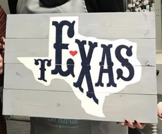 Texas Pallet Sign