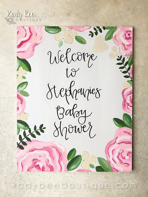 Custom Baby Shower Sign