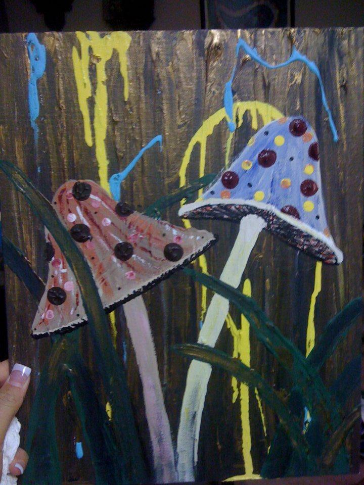 Mushroom Acrylic Painting