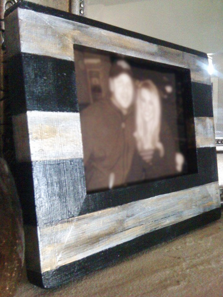 Silver Gold and Black Wooden Frame