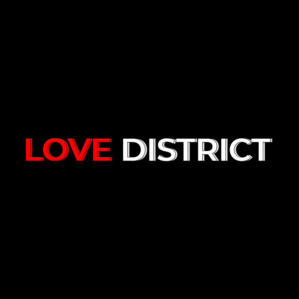LD white logo black background