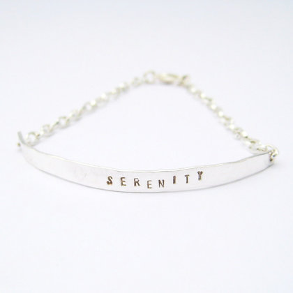 Serenity Quote Silver Chain Bracelet
