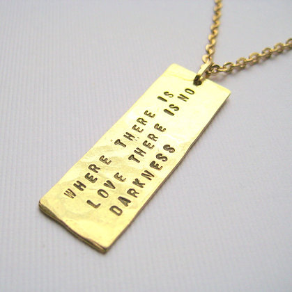 Where There is Love Stamped Necklace