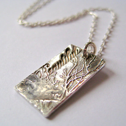 Beautiful Fine Silver Pendant Necklace