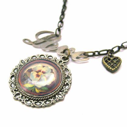 Love Floral Pendant Necklace