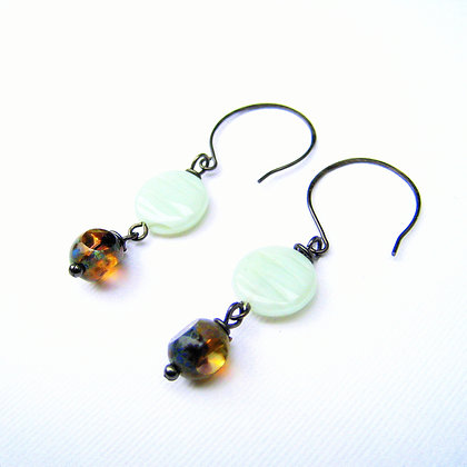 Earth and Sky Glass Earrings