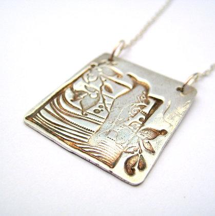 Tropic Wonder Fine Silver Pendant Necklace