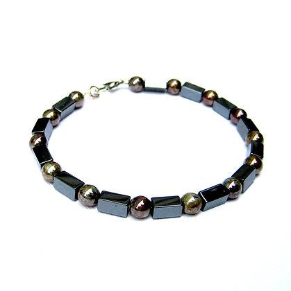 Gunmetal Hematite Beaded Bracelet