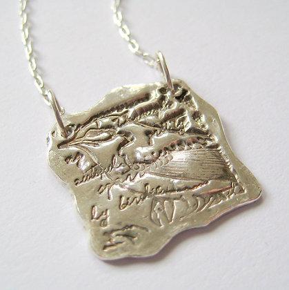 Bye Bye Birdie Fine Silver Pendant Necklace