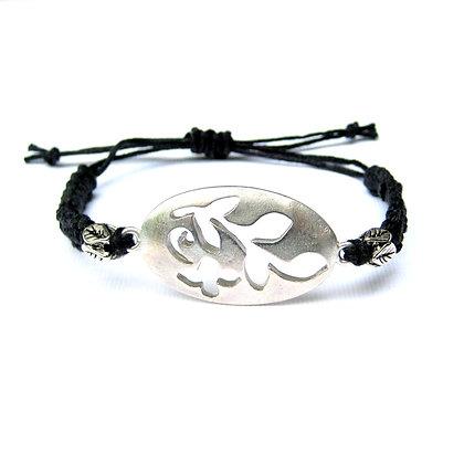 Silver-tone Leaf Wrap Bracelet