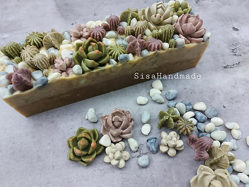 AS01d 多肉盆。皂 Succulent Pot Soap