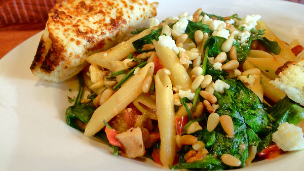 Folsom Pete's Penne Chicken Feta and Pine Nuts Pasta Catering