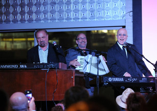 With Felix Cavaliere and Paul Shaffer at a WHY Hunger event.