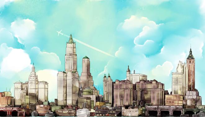 Old NYC skyline