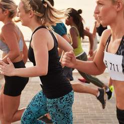 Women Running Race