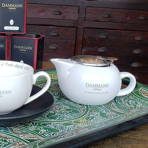 10oz Teapot Dammann Frères with Strainer Basket